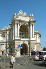 Odessa  Ukraine  das Opernhaus im Stadtzentrum