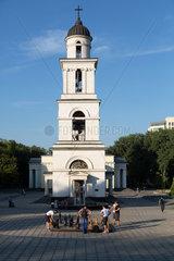 Chisinau  Moldau  Glockenturm der Kathedrale der Geburt des Herrn