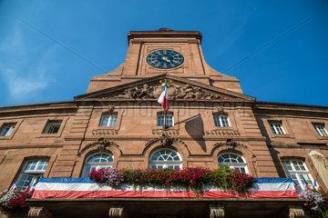 Weissenburg  Frankreich  das Rathaus