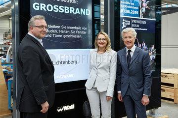 Velten  Deutschland  Presserundgang bei der Wall AG