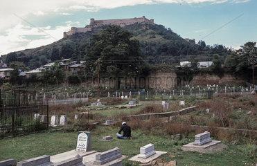 Srinagar  Indien  Hari Parbat-Huegel mit der Durrani-Festung