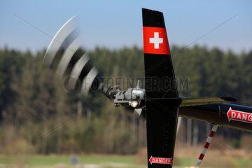Beromuenster  Schweiz  Heckrotor und Seitenleitwerk eines Hubschraubers