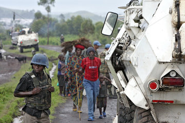 Goma  Demokratische Republik Kongo  Patrouillenfahrt der MONUC