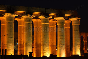 Luxor  Aegypten  Tempelanlage des Luxor-Tempel