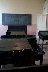 Heybeliada  Tuerkei  ein leerer Unterrichtsraum im Priesterseminar Halki