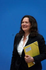 Berlin  Deutschland  Bundesarbeitsministerin Andrea Nahles  SPD