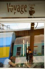 Posen  Polen  Bahnhofscafe im Hauptbahnhof
