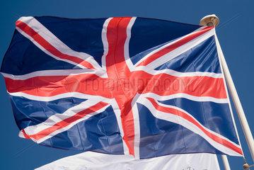 Frankreich  wehende britische Nationalflagge