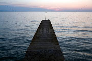 Molivos  Griechenland  Sonnenuntergang am Meer