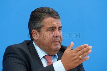 Berlin  Deutschland  Sigmar Gabriel - Bundesminister fuer Wirtschaft und Energie