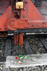 Auschwitz  Polen  Gueterwaggon des Konzentrationslager Auschwitz-Birkenau