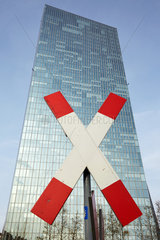 Frankfurt  Deutschland  Neubau der Europaeischen Zentralbank