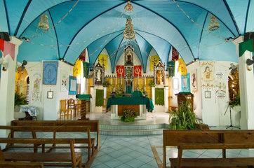Rotoava  Franzoesisch-Polynesien  die Eglise Saint-Jean de la Croix