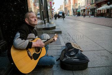 Thorn  Polen  Strassenmusiker in der Altstadt
