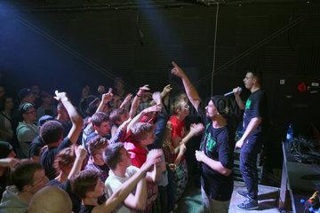 Posen  Polen  Hip-Hop-Konzert einer polnischen Kombo