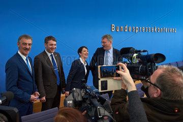 Berlin  Deutschland  Bundespressekonferenz der AfD