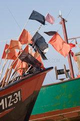 Wollin  Polen  Fischerboote am Strand