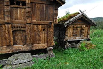 Dovre  Norwegen  alter Bauernhof im Rondane-Nationalpark
