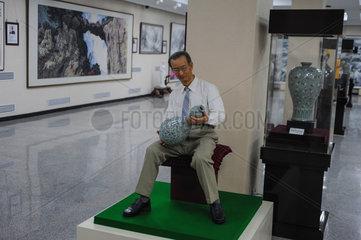 Pjoengjang  Nordkorea  eine Ausstellung im Mansudae Kunststudio