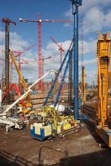 Hamburg  Deutschland  Baustelle in der HafenCity