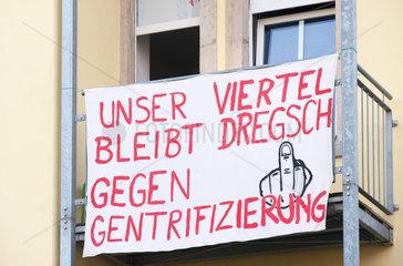 Dresden  Deutschland  Mieter-Protest gegen Gentrifizierung