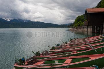 Kochel am See  Deutschland  Bootsverleih bei Urfeld am Walchensee
