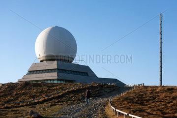 Geishausen  Frankreich  Radarstation auf dem Gipfel des Grand Ballon