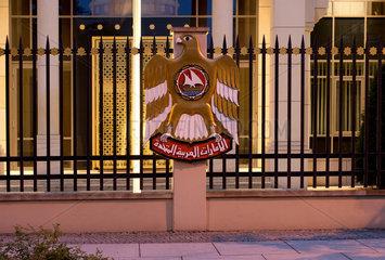 Berlin  Deutschland  die Botschaft der Vereinigten Arabischen Emirate