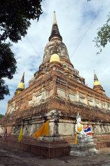 Ayutthaya  Thailand  die grosse Chedi des Wat Yai Chai Mongkon