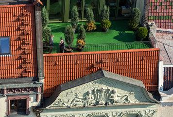 Thorn  Polen  Haus mit Balkon am Altmarkt