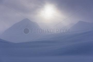 Winterlandschaft  Stuor Reaiddavaggi  Lappland