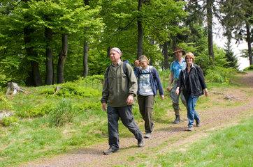 Brotterode  Deutschland  Wanderer am Rennsteig