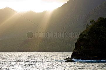 Atuona  Franzoesisch-Polynesien  Blick zur Insel Hiva Oa