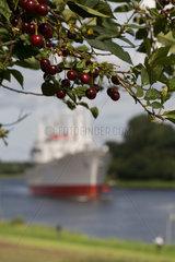 Kiel  Deutschland  Museumsschiff Cap San Diego auf dem Nord-Ostsee-Kanal