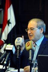 SYRIA-DAMASCUS-DEPUTY-FM-PRESS-BRIEFING