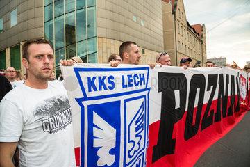 Posen  Polen  Aufmarsch am 60. Jahrestag des Posener Aufstands
