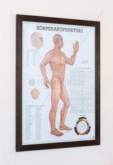 Genua  Italien  Plakat ueber Koerperakupunktur