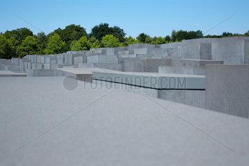 Berlin  Deutschland  Betonstelen des Holocaustmahnmal