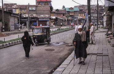 Srinagar  Indien  Strassenszene