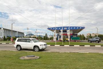 Tiraspol  Republik Moldau  Sheriff-Tankstelle auf dem Sheriff-Komplex
