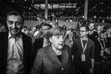 Merkel attends JU Deutschlandtag in Dresden