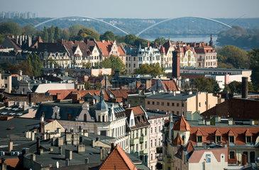 Thorn  Polen  Blick ueber die Altstadt zur Weichsel