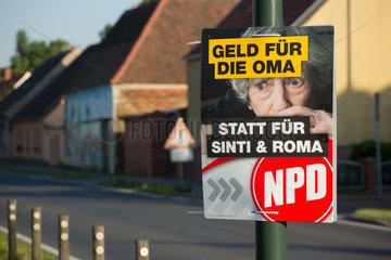 Jaenickendorf  Deutschland  NPD-Plakat