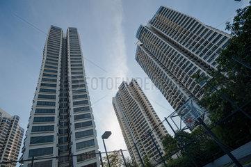 Singapur  Republik Singapur  D'Leedon Wohnanlage mit Basketballplatz