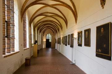 Stralsund  Deutschland  Gang im Johanniskloster