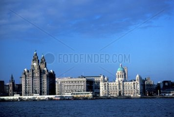UK  England  Liverpool  port and Royal Liver Building