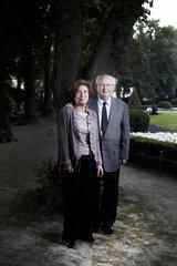 Berlin  Deutschland  Journalistin Beate Klarsfeld mit ihrem Ehemann Serge Klarsfeld