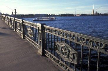 Russia  St Petersburg  Neva river banks