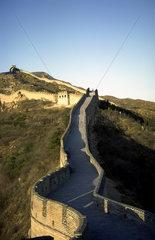 Peking  China  die Chinesische Mauer bei Badaling