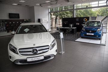 Odessa  Ukraine  ausgestellte Autos im Mercedes-Salon
